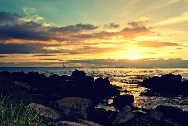 Ohau Wall Art - Photograph - Sunset At Secret Beach by Naomi Hayes