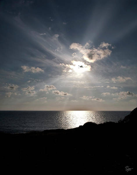 Photograph - Sunset At The Lebanon Border by Endre Balogh