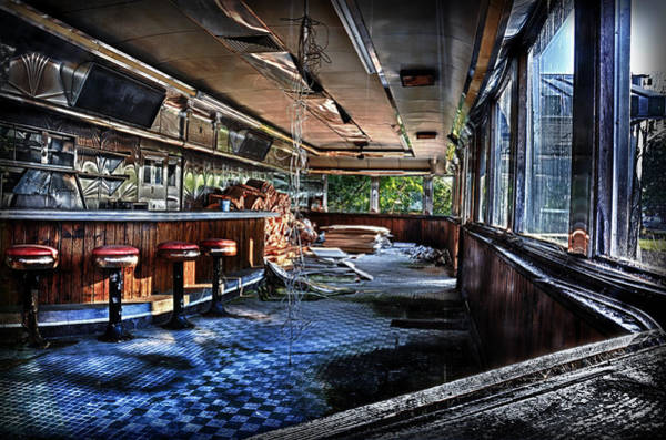 Photograph - Sunset At The Old Sunrise Diner 2 by Mark Fuller