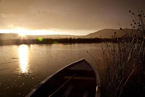 Puno Photograph - Sunset At The Uros Islands, Lake by Michael &Amp Jennifer Lewis