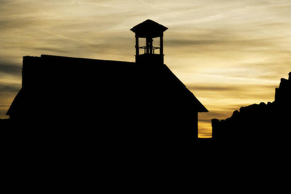 Photograph - Sunset Behind The Church by Marilyn Hunt