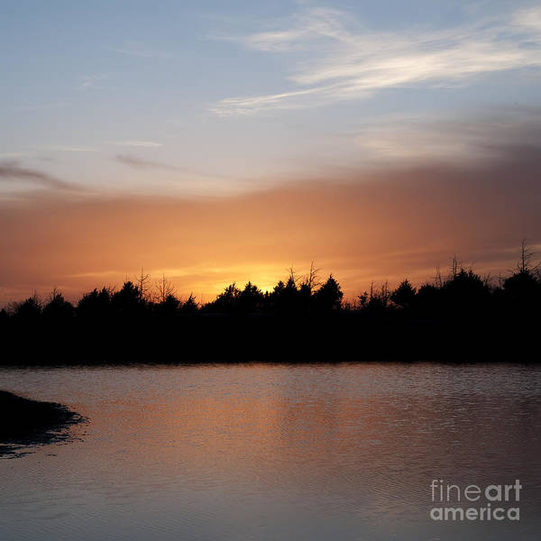 Photograph - Sunset By The Lake by Art Whitton
