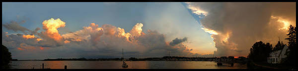 Photograph - Sunset Clouds Over The Bay by Tim Nyberg
