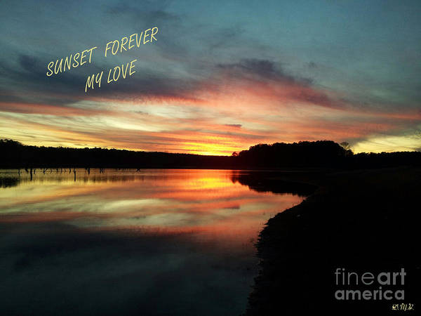 Lake Juliette Photograph - Sunset Forever My Love by Donna Brown