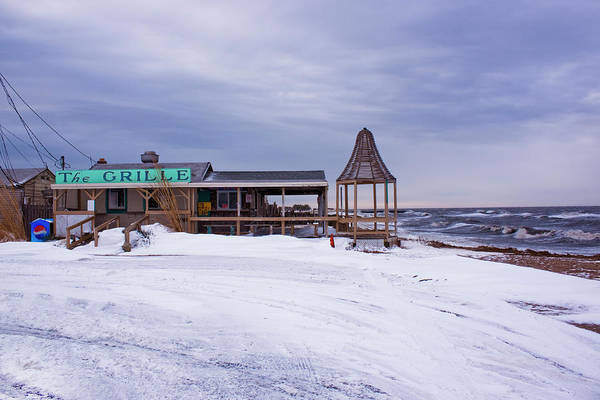Photograph - Sunset Grill In Winter by Tom Singleton