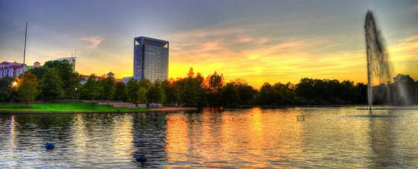 Houston Zoo Photograph - Sunset In Hermann Park by David Morefield