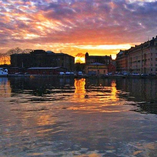 Wall Art - Photograph - #sunset In #stockholm #2005 by Gianluca Sommella