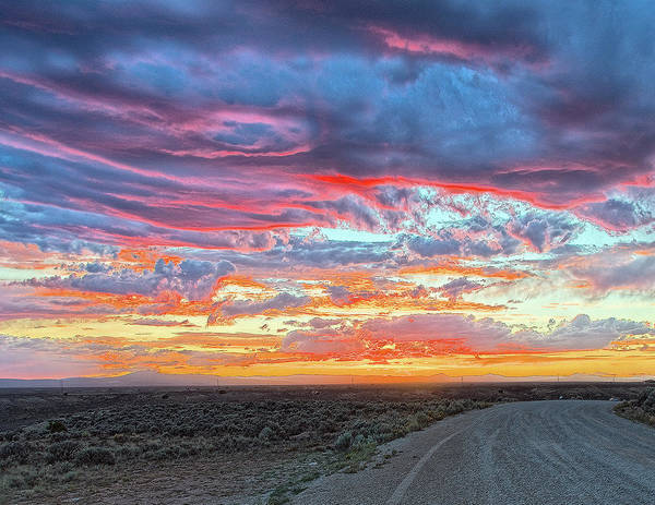 Photograph - Sunset In Taos  by Charles Muhle