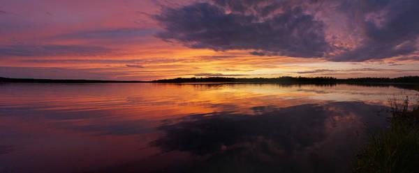 Sunset Lake Nakamun Art Print