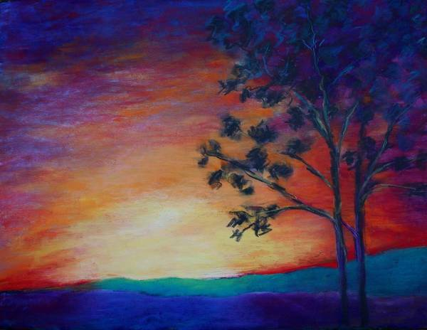 Painting - Sunset Monday by Karin Eisermann