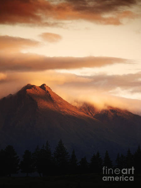 Mountain Sunset Photograph - Sunset Mountain by Pixel Chimp
