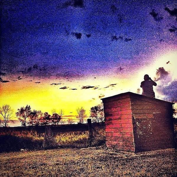 Guns Photograph - #sunset #northdakota #sun #clouds by Emily Nielsen