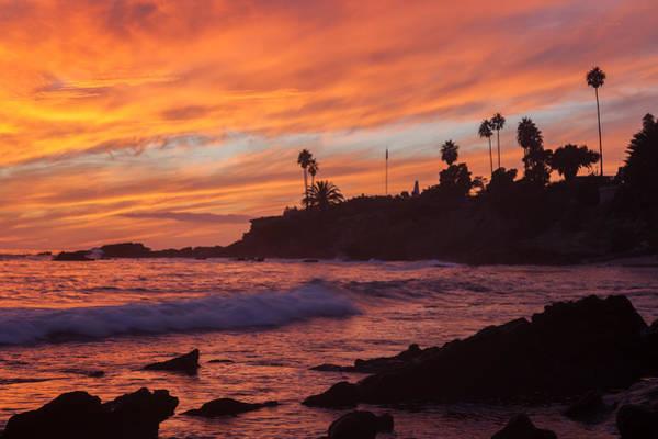 Photograph - Sunset Off Laguna Beach by Cliff Wassmann