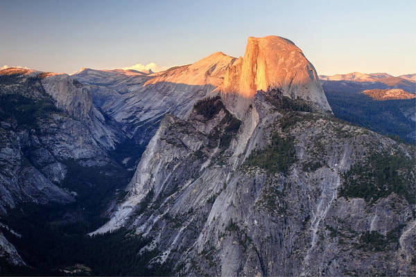 Photograph - Sunset On Half Dome In Yosemite National Park by Pierre Leclerc Photography