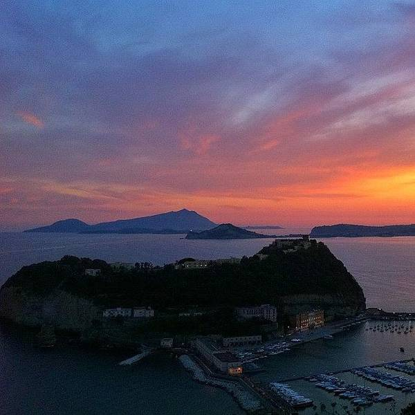 Wall Art - Photograph - Sunset On Nisida Miseno And Ischia by Gianluca Sommella
