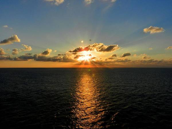 Photograph - Sunset On The Atlantic 001 by Lance Vaughn