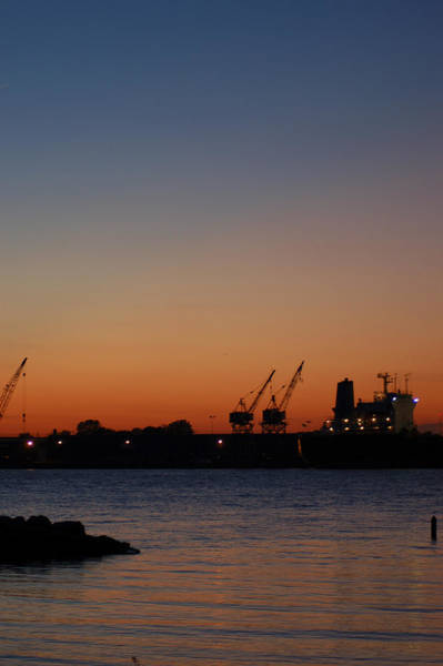 Photograph - Sunset On The Detroit River 2 by Wade Clark
