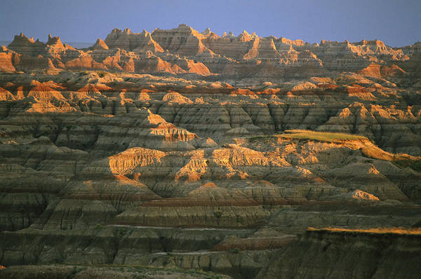 North Dakota Badlands Wall Art - Photograph - Sunset On The Geological Formations by Annie Griffiths