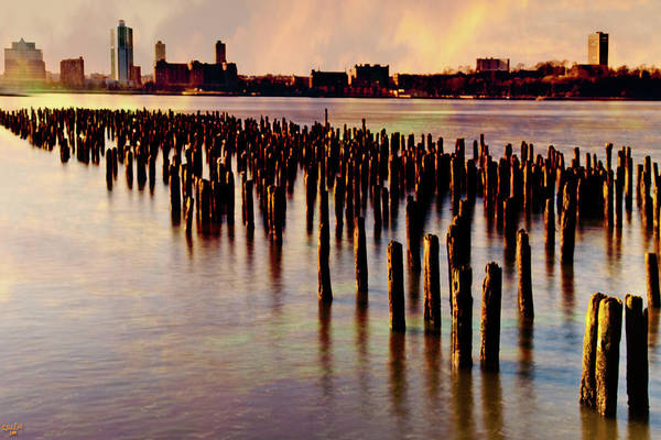 Photograph - Sunset On The Hudson by Chris Lord