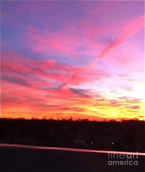 Wall Art - Painting - Sunset On Throgs Neck Bridge by Jane Ubell-Meyer