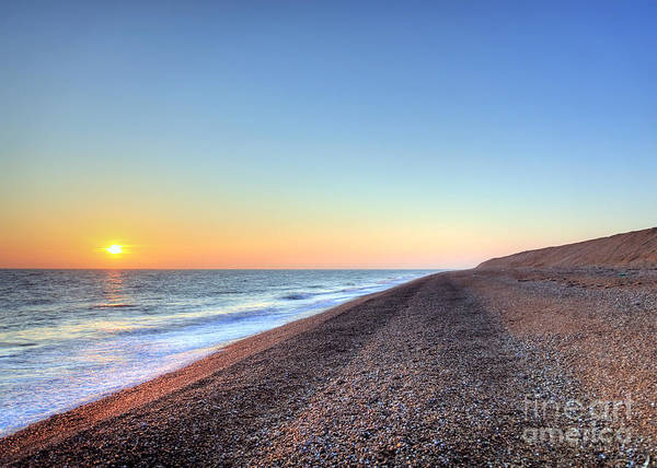 Wall Art - Photograph - Sunset Over Dungeness Kent England by Lee-Anne Rafferty-Evans