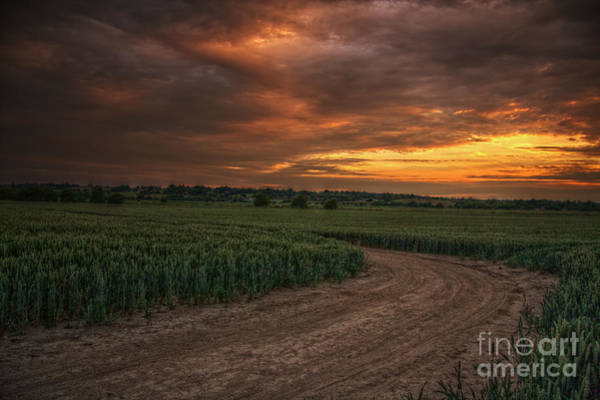 Wall Art - Photograph - Sunset Over Iden by Lee-Anne Rafferty-Evans