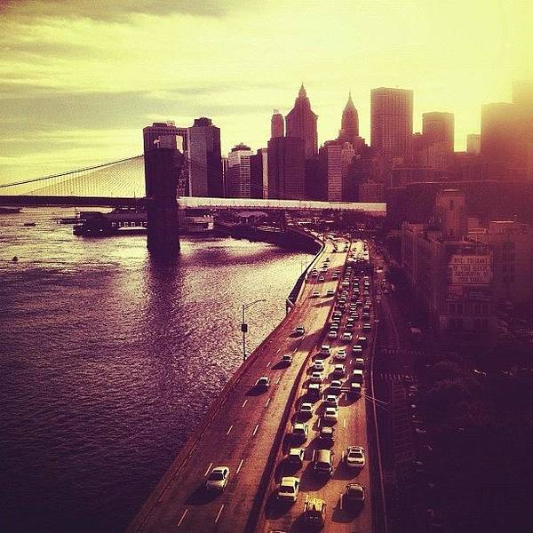 Wall Art - Photograph - Sunset Over New York City by Vivienne Gucwa
