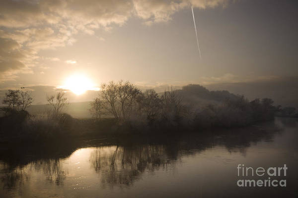 Wall Art - Photograph - sunset over river Wye by Angel Ciesniarska