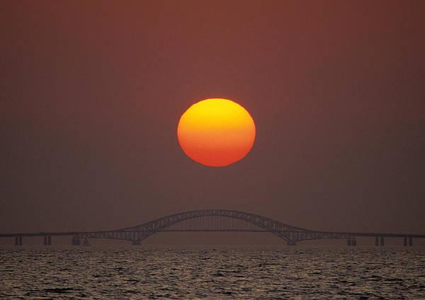 Photograph - Sunset Over Robert Moses Bridge by Larry Landolfi