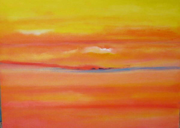Wall Art - Painting - Sunset Over Santa Fe by Jane Ubell-Meyer