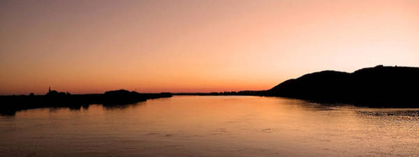 Donau Photograph - Sunset Over The Danube ... by Juergen Weiss