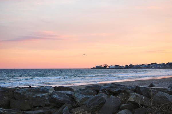 Photograph - Sunset Over Wallis Sands Beach New Hampshire by Mary McAvoy