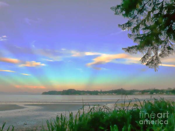 Vancouver Mixed Media - Sunset Rays by Gail Bridger