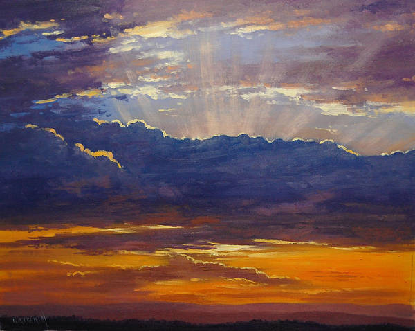 Sunrise Painting - Sunset Rays by Graham Gercken