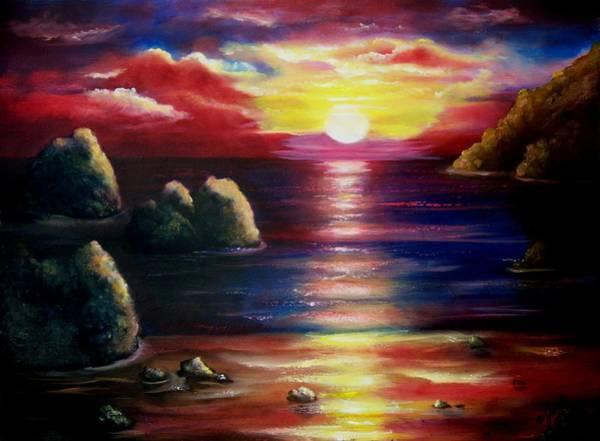 Painting - Sunset Seascape 2 by Joni McPherson
