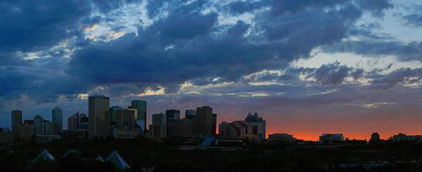 Sunset Skyline Edmonton Art Print