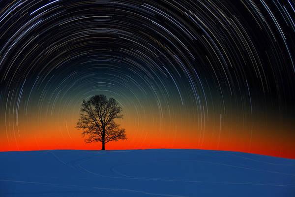 Photograph - Sunset Star Trails by Larry Landolfi