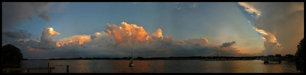 Photograph - Sunset Storm Clouds Panorama by Tim Nyberg