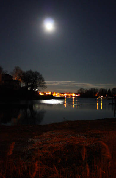 Connecticut Photograph - Super Moon Night   2 by Mark Ashkenazi
