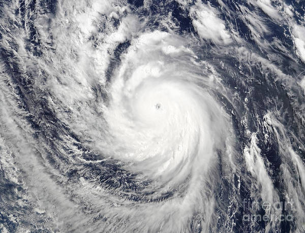 Photograph - Super Typhoon Lupit by Stocktrek Images