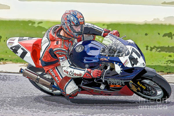 Photograph - Superbike Racer I by Clarence Holmes