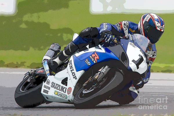 Photograph - Superbike Racer IIi by Clarence Holmes