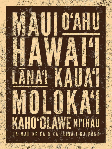 Surf Hawaiian Islands Art Print