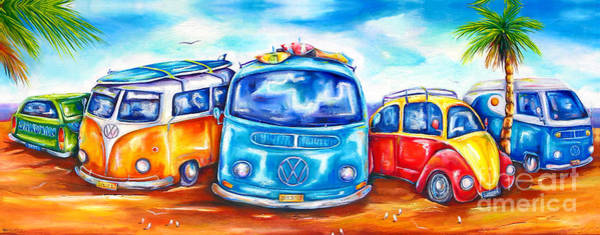 Wall Art - Painting - Surf Wagons by Deb Broughton