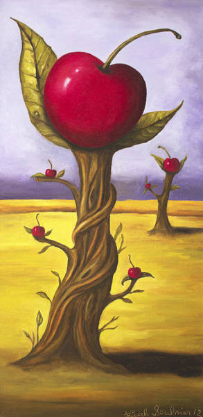 Painting - Surreal Cherry Trees by Leah Saulnier The Painting Maniac