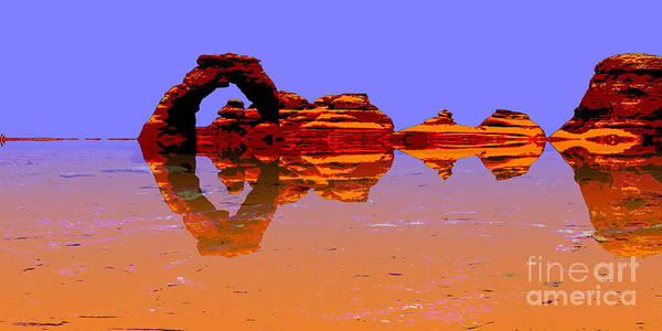 Delicate Arch Digital Art - Surreal by Peggy Starks