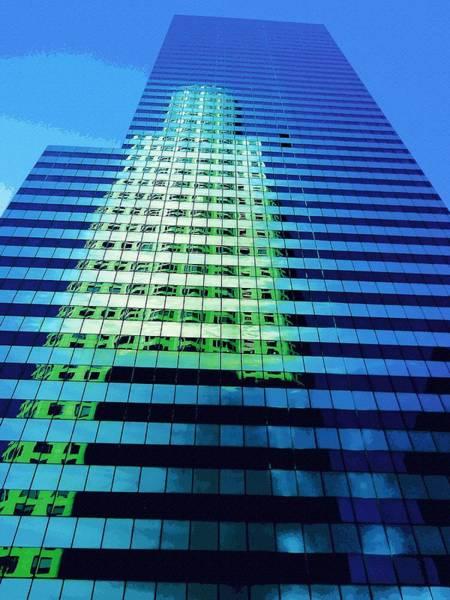 Wall Art - Digital Art - Surreal Reflections Skyscraper 1 by Eve Paludan