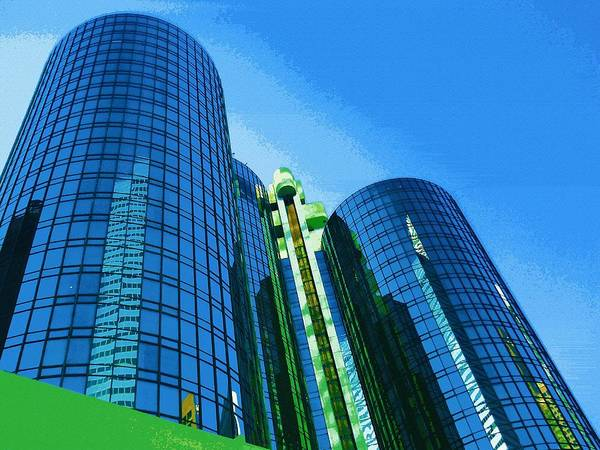 Wall Art - Digital Art - Surreal Reflections Skyscraper 2 by Eve Paludan