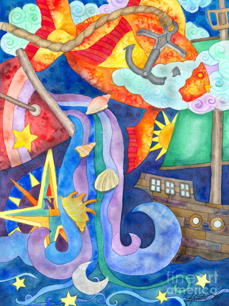 Painting - Surreal Seascape by Kristen Fox