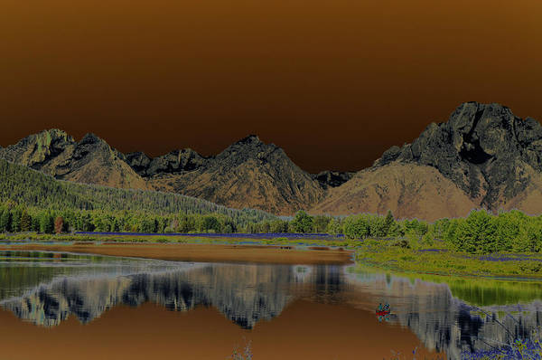 Teton National Park Digital Art - Surreal Tetons by Vijay Sharon Govender